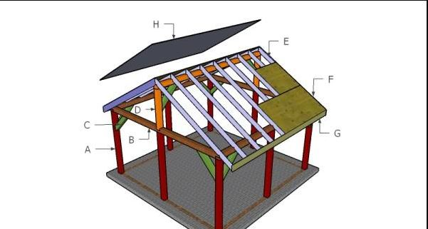 16'x16' Outdoor Pavilion