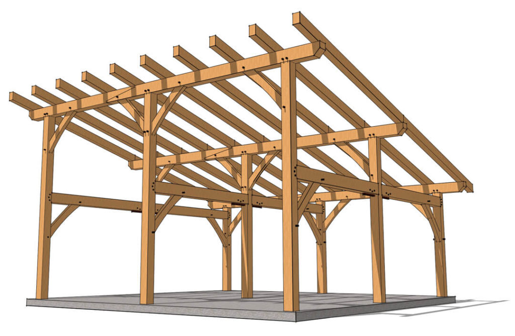 Shed Roof Pavilion Plan