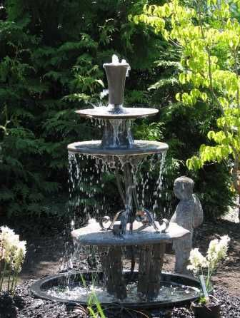 Three-Tiered Water Fountain