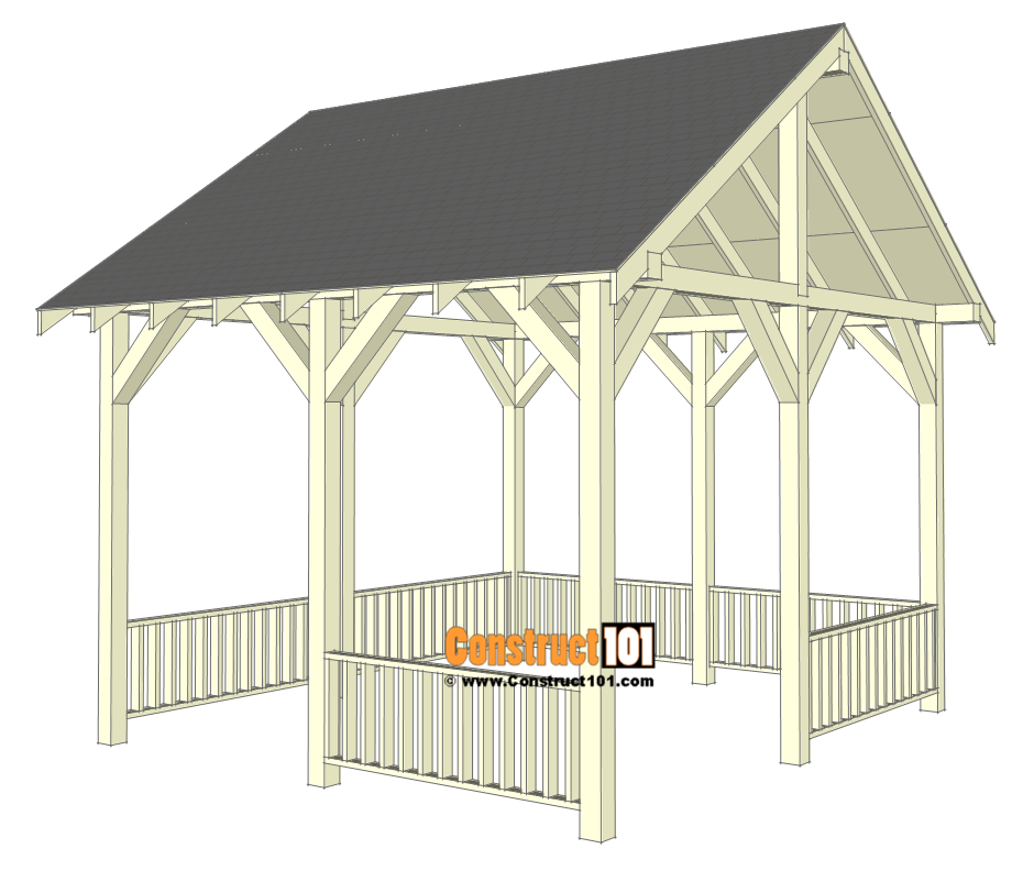 Pavilion With Railing