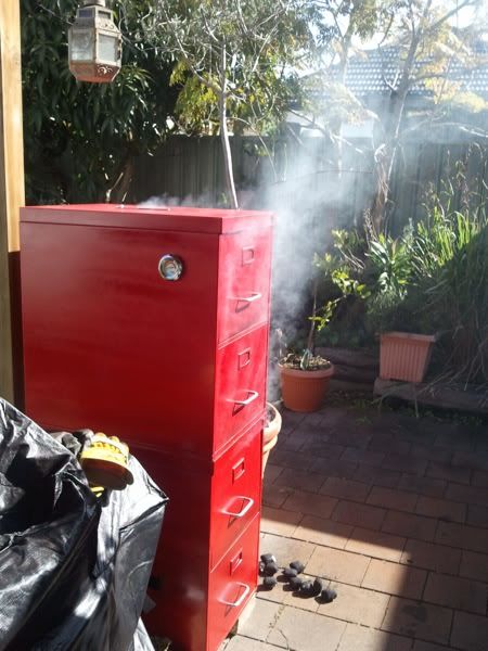 Double-Decker File Cabinet Smoker