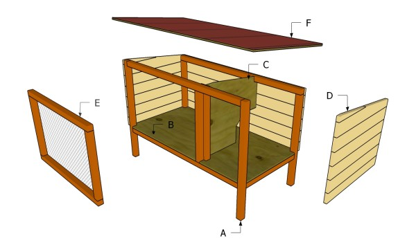 Outdoor Rabbit Hutch Plan