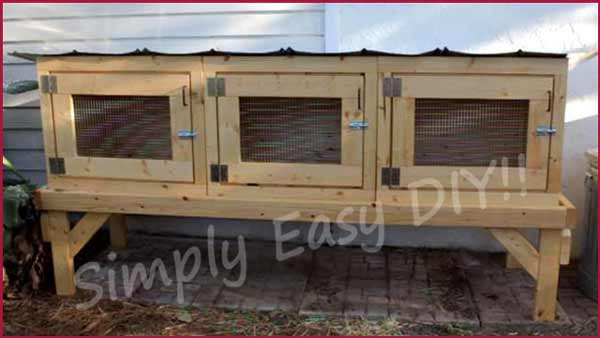 Three Units Rabbit Hutch Plan