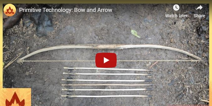 Bow and Arrow Made From Found Material