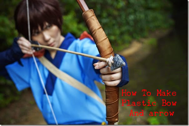 how to make plastic bow and arrow