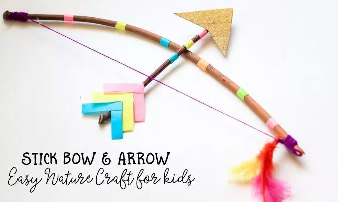 Stick Bow and Arrows