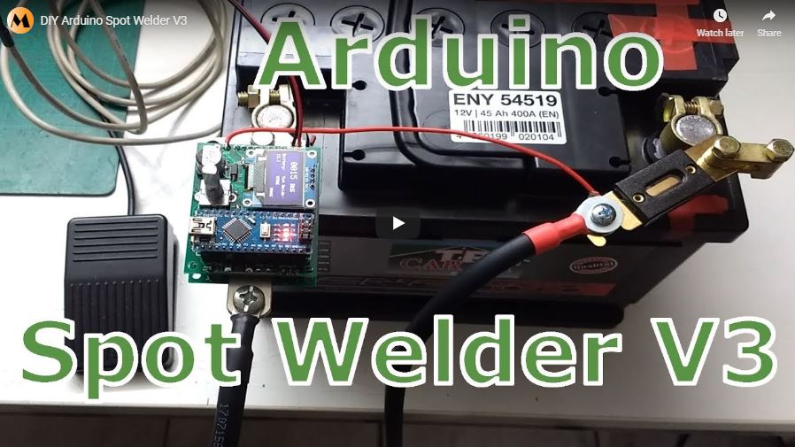 DIY Arduino Battery Spot Welder