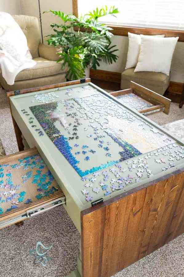 DIY Puzzle Game Table
