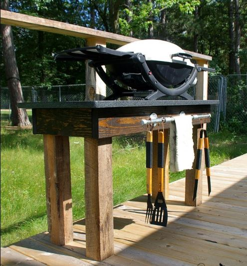 Granite Topped Grill Station