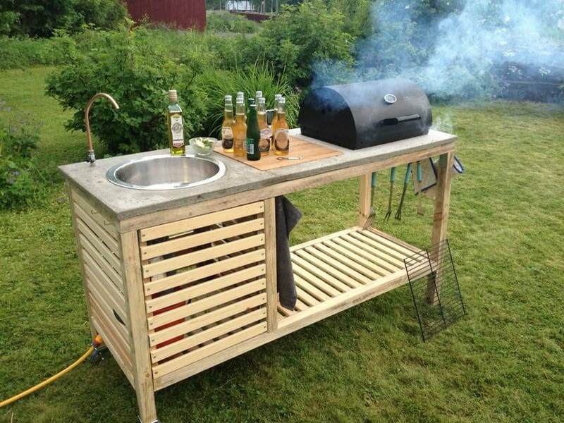 Portable Kitchen Grill Station