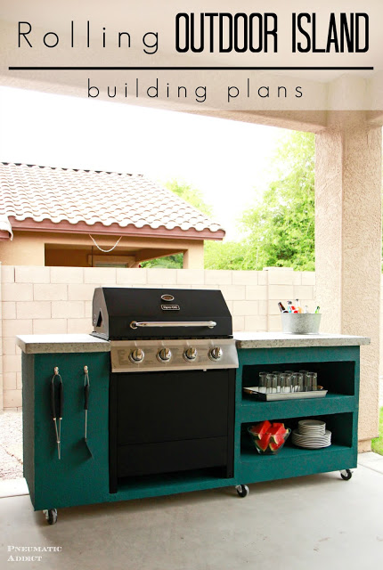 Rolling DIY Grill Station
