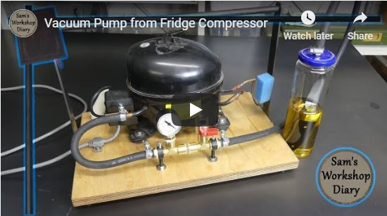 DIY Vacuum Pump-27 Easy To Do Projects