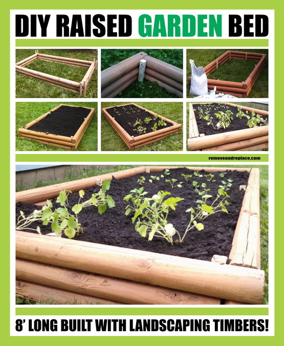 DIY Raised Garden Bed With Landscape Timbers
