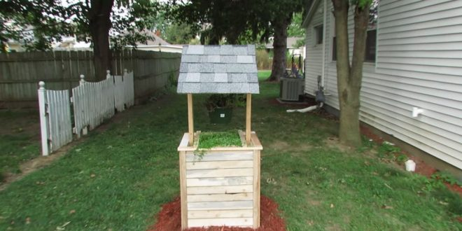DIY Wishing Well Planter