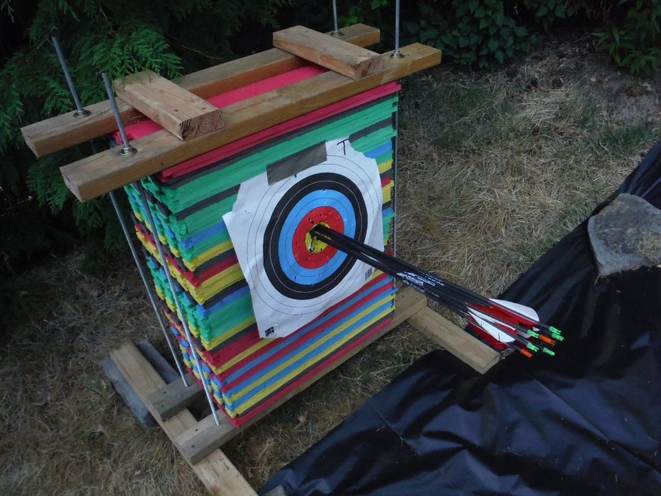 Foam Floor Homemade Mat Archery Target