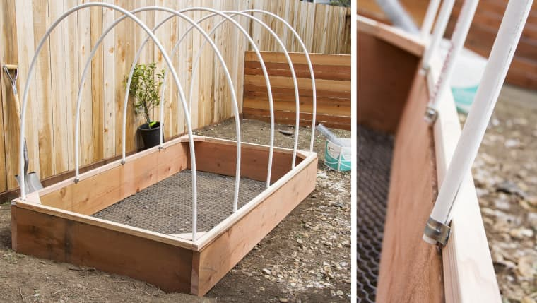 Raised Garden Bed and Greenhouse