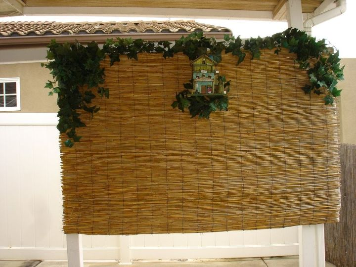 Bamboo DIY Privacy Screen