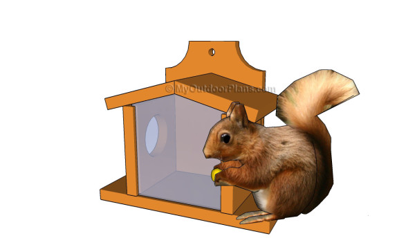 DIY Squirrel Feeder House