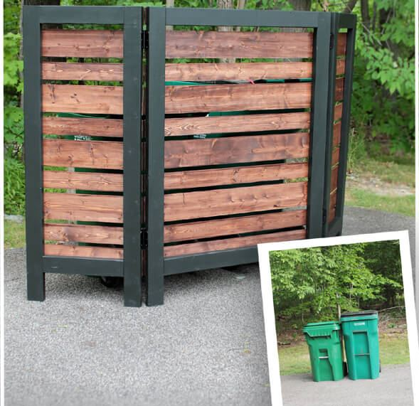 Garbage Can DIY Privacy Screen