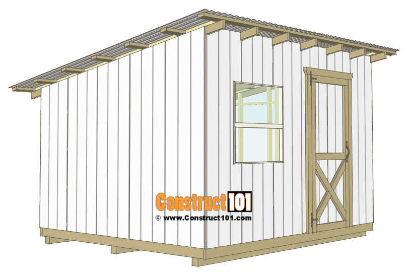 10x12-lean-to-shed-plans-door
