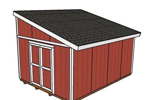 Large Lean To Shed Plans