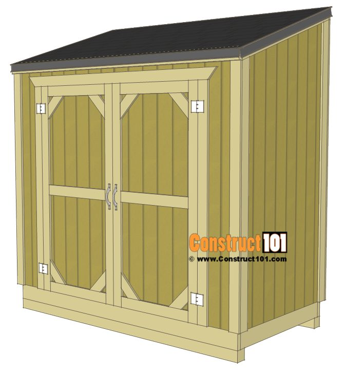 4'x8' Lean To Shed Plans