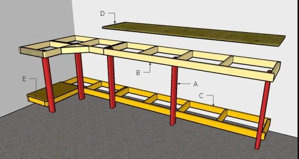 customized corner workbench