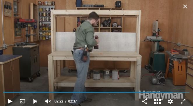 garage workbench idea