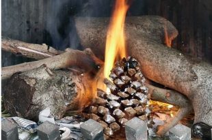 Homemade Firestarters for firepit or campfire
