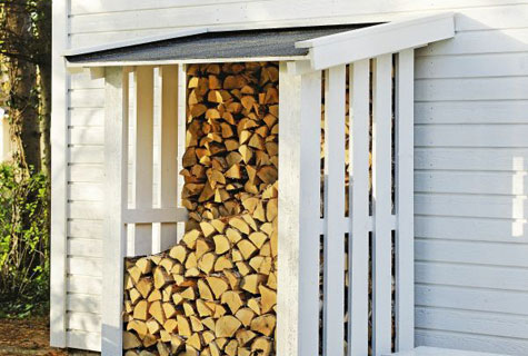 Lean-To Firewood Rack
