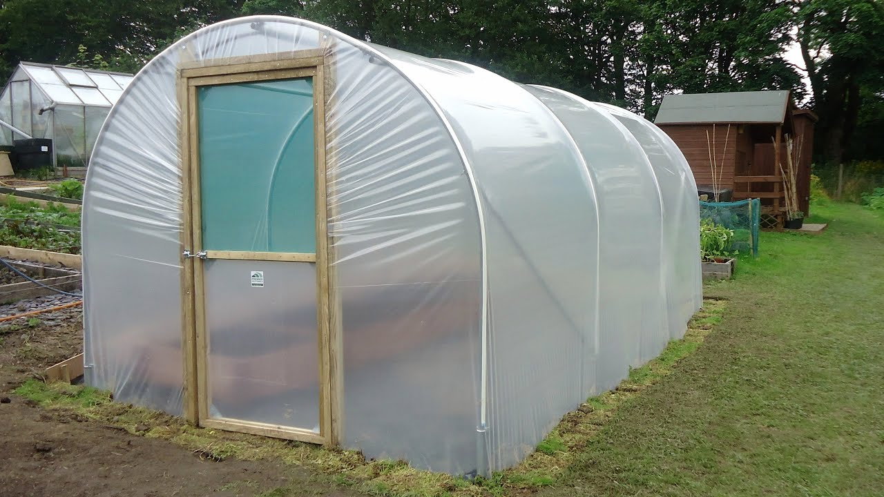 DIY Polytunnel Greenhouse