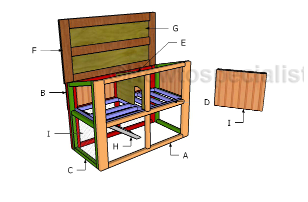 Easy Rabbit Hutch With Opening Roof