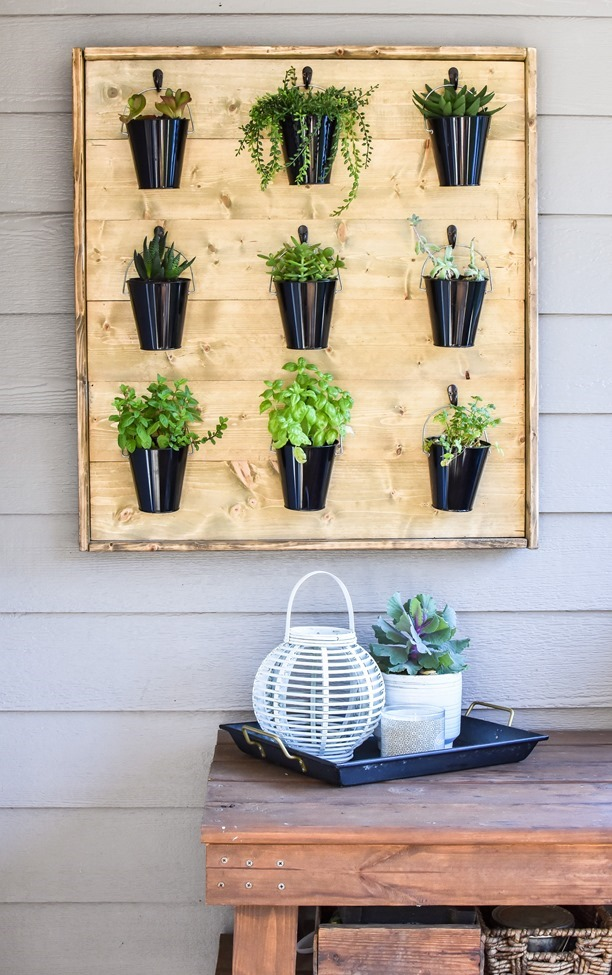 DIY French Cleat Vertical Wall Garden