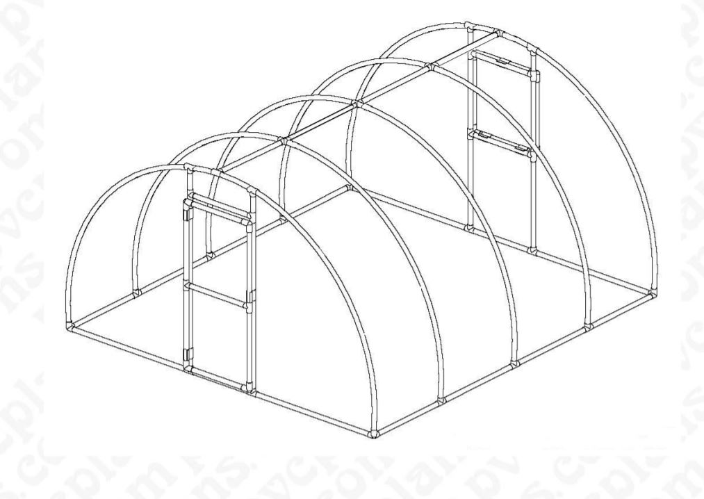 DIY PVC Greenhouse with Printed Plans