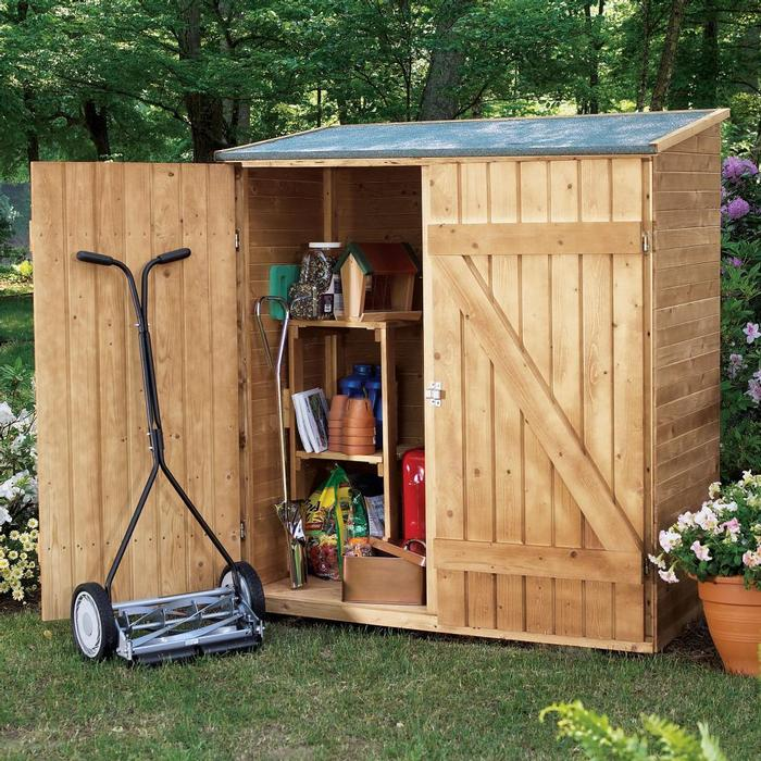 Wooden Lean-to Garden Shed