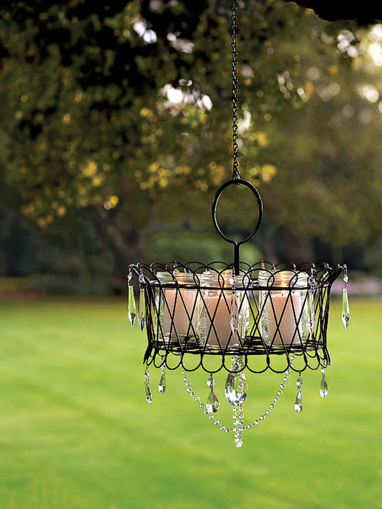 Creating an Outdoor Candlelight Chandelier
