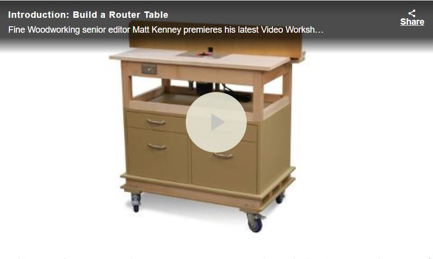 Stand Alone Router Table