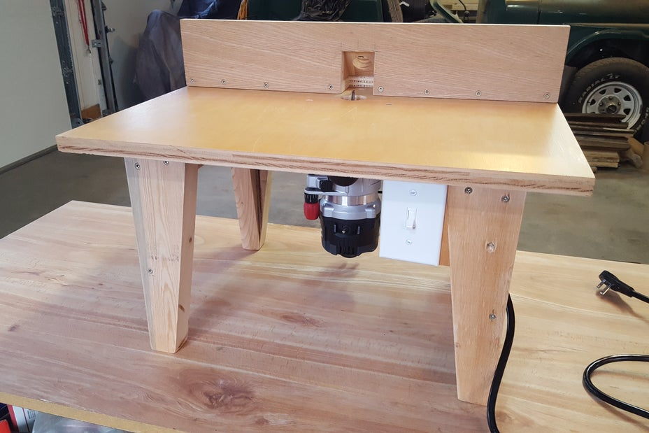 Plywood Routing Table