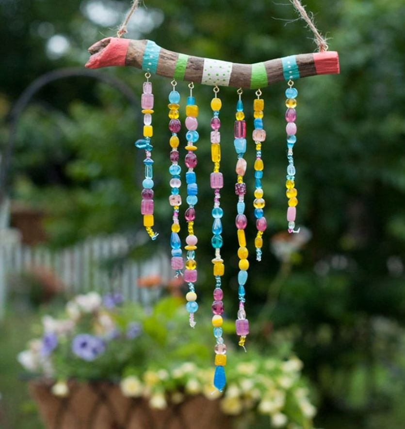 Driftwood and Bead Wind Chimes for Kids