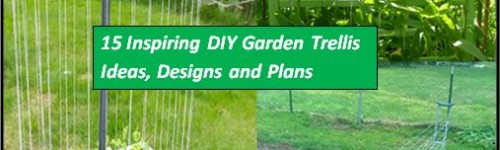 15 Inspiring DIY Garden Trellis Plans,Designs And Ideas